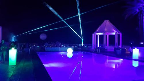Outdoor lasers at the diplomat hotel Hallandale 305 767 9872